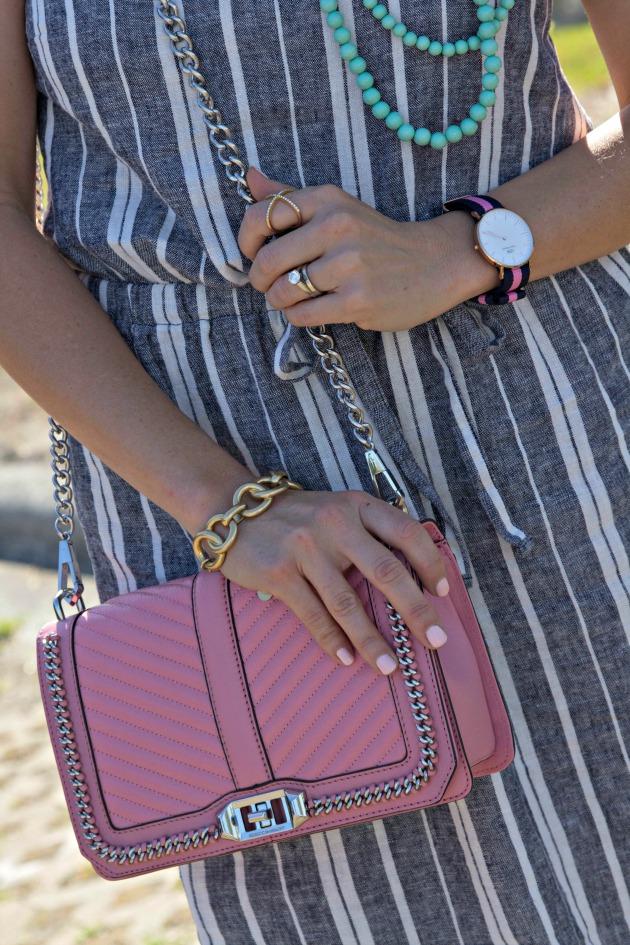 Linen Striped Dress Saltwater And Stilettos
