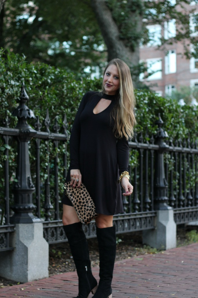 little-black-dress-leopard-clutch-and-over-the-knee-boots-8
