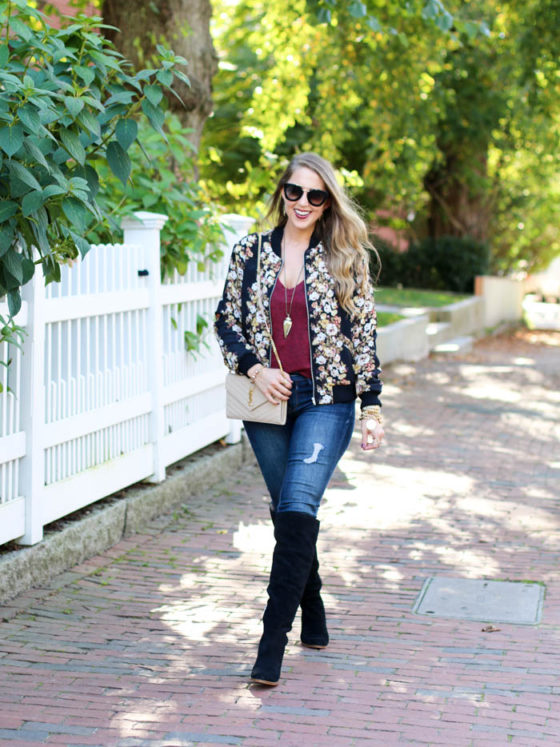 Fall Florals Bomber Jacket