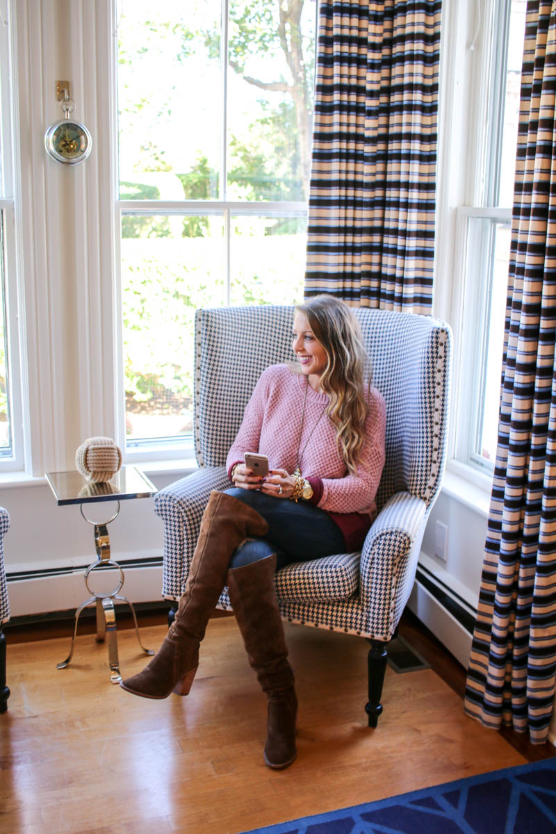 76 Main Nantucket and cozy knit sweater