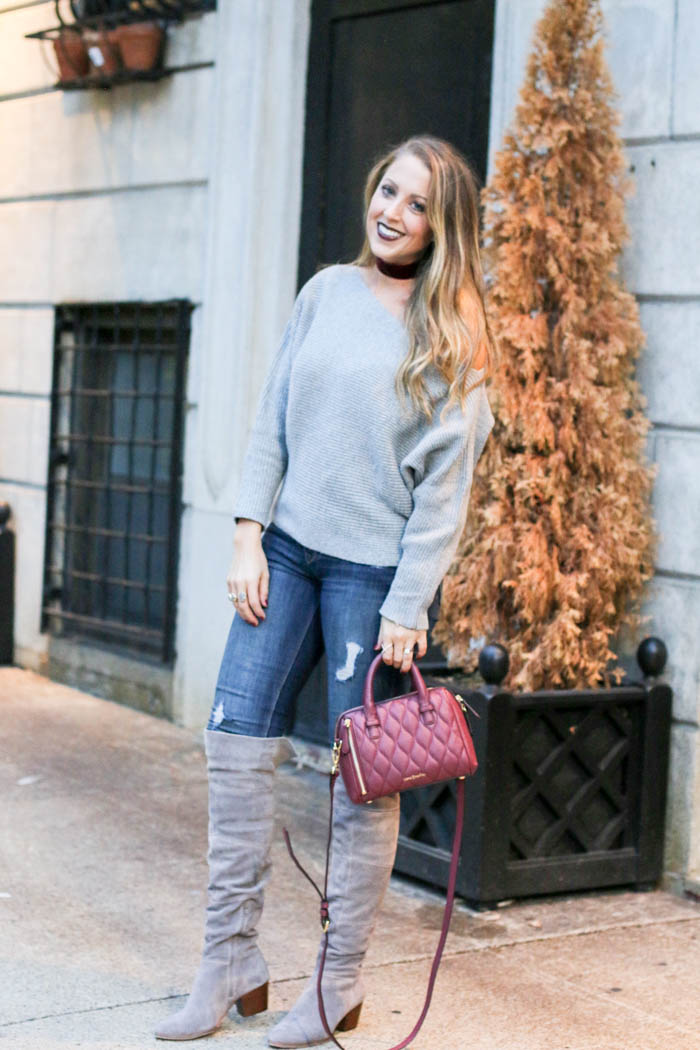 grey-off-the-shoulder-verabradley-bag-solesociety-boots
