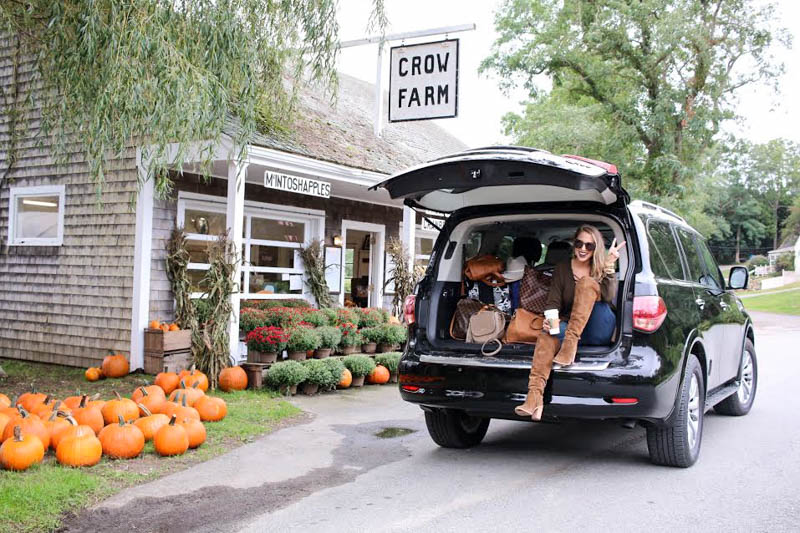 Hertz packing with fall pumpkins and over the knee boots