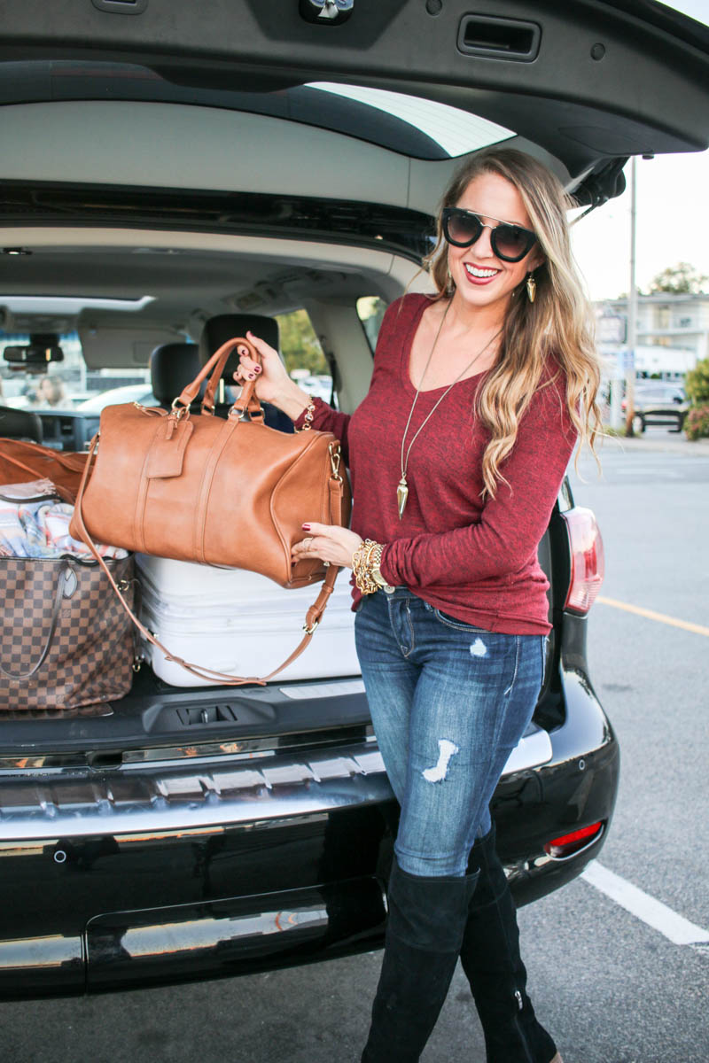 Hertz road trip with luggage bags