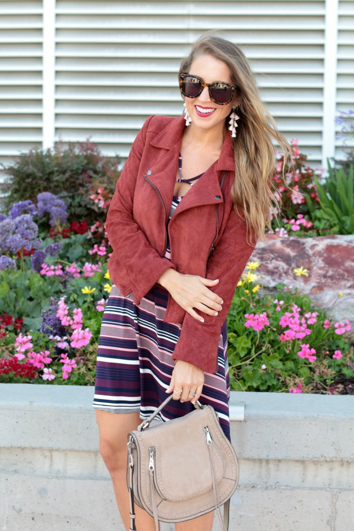 striped-cross-front-dress-booties-moto-jacket-tassels-earrings-and-rebecca-mink-saddle-bag-11