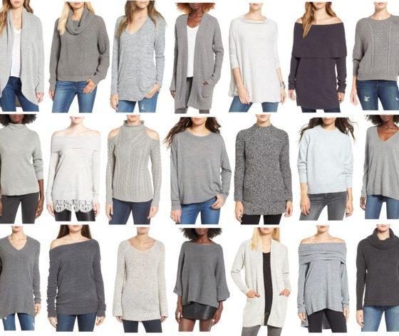Wednesday Wish List- Grey Sweaters Under $75