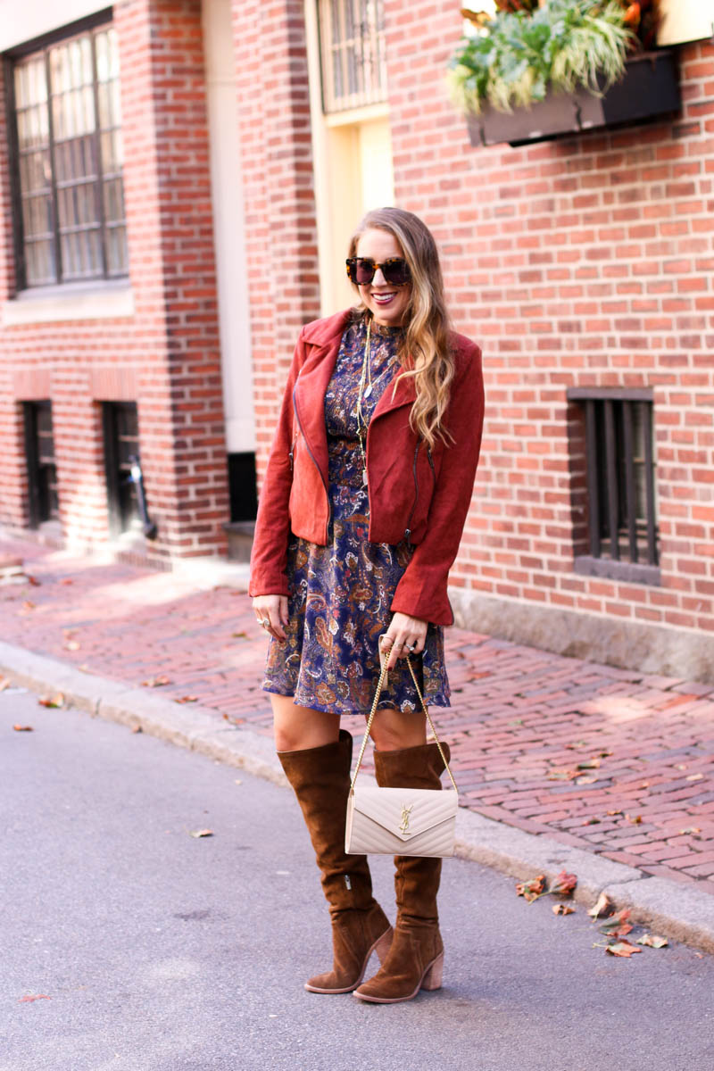 paisley-dress-moto-jacket-over-the-knee-boots-and-ysl-1-of-11