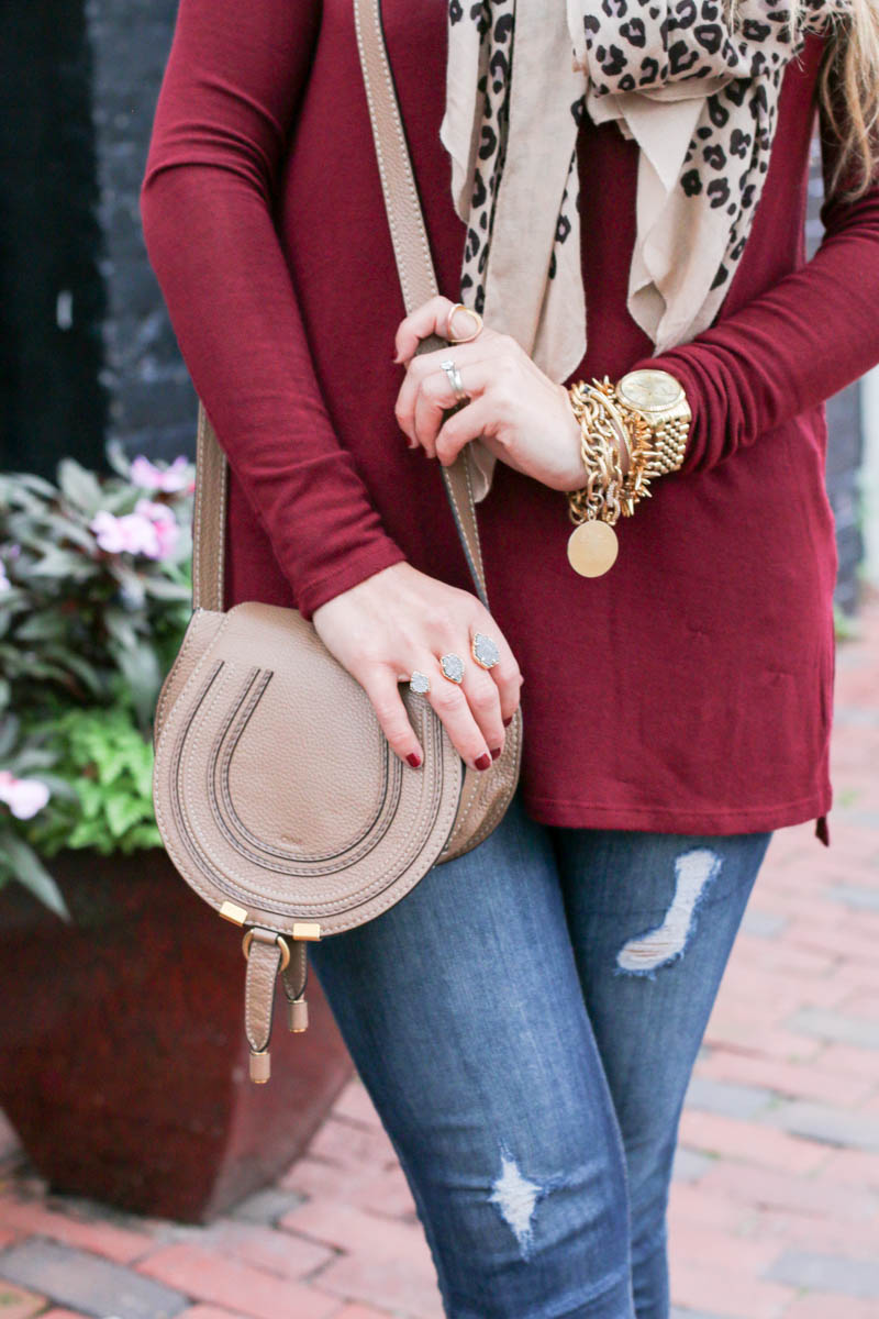 burgundy-off-the-shoulder-leopard-scarf-karen-walker-sunglasses-chloe-crossbody-bag-7-of-11