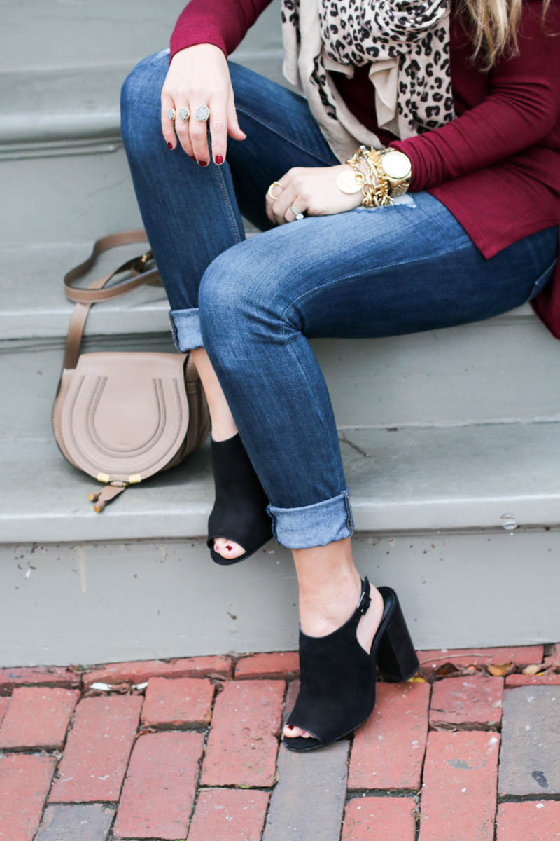 fall booties and chloe bag