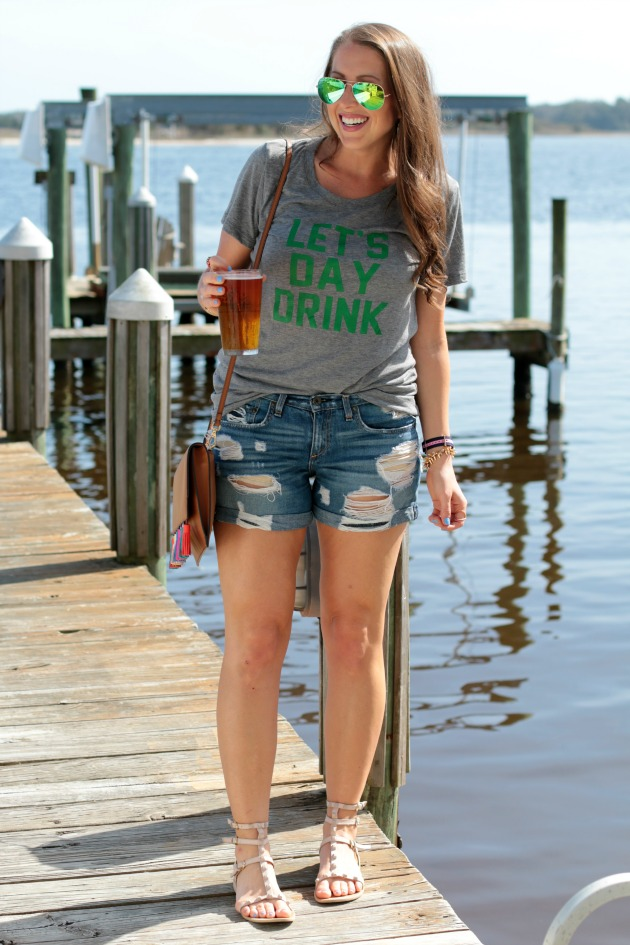Let's day drink tee, st patricks day