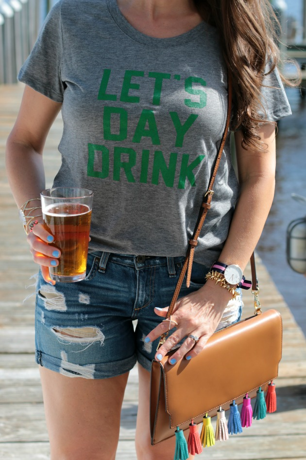 drink during the day tee, st patricks day