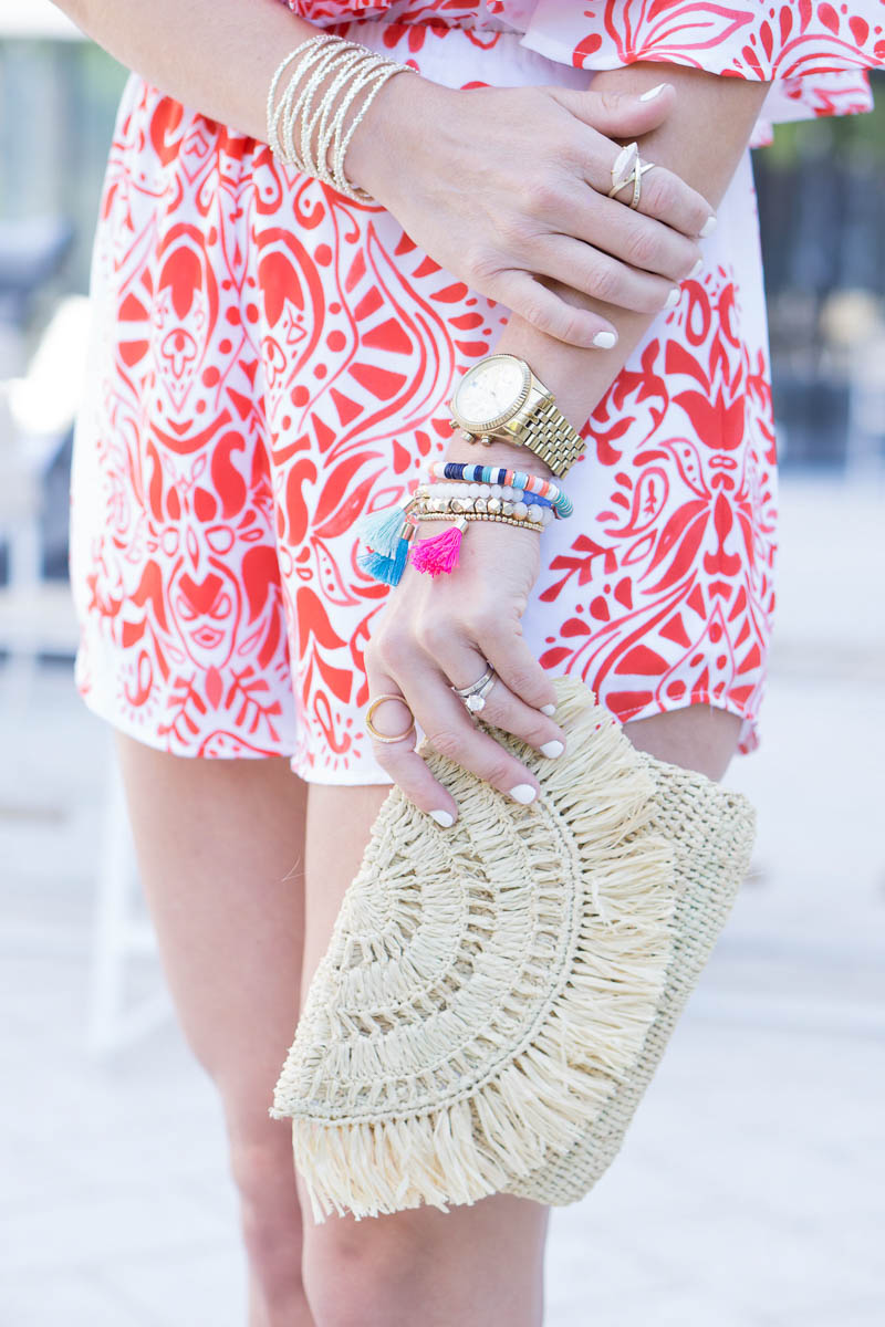mar y sol clutch and baublebar arm party