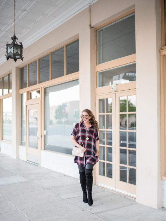 Plaid Shirtdress Versatile for Fall